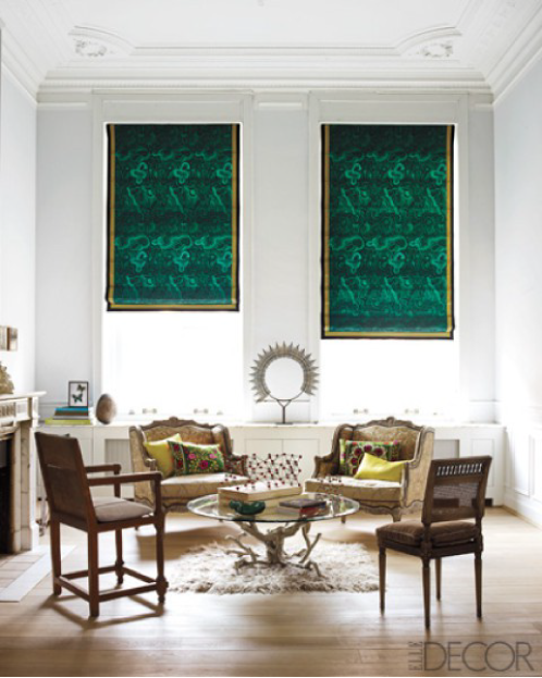 elle decor malachite